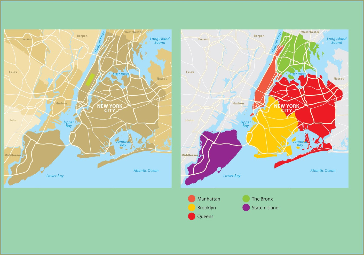 New York City Map Vector Free