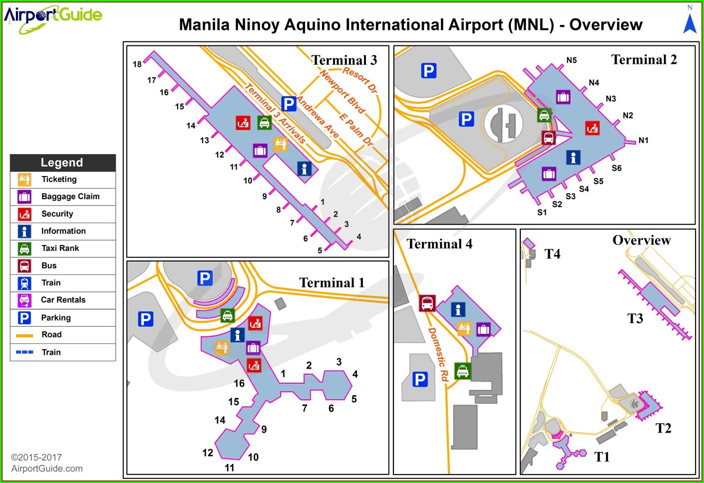 Ninoy Aquino International Airport Map