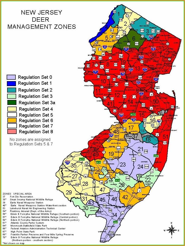 Nj Hunting Zone Map 2018