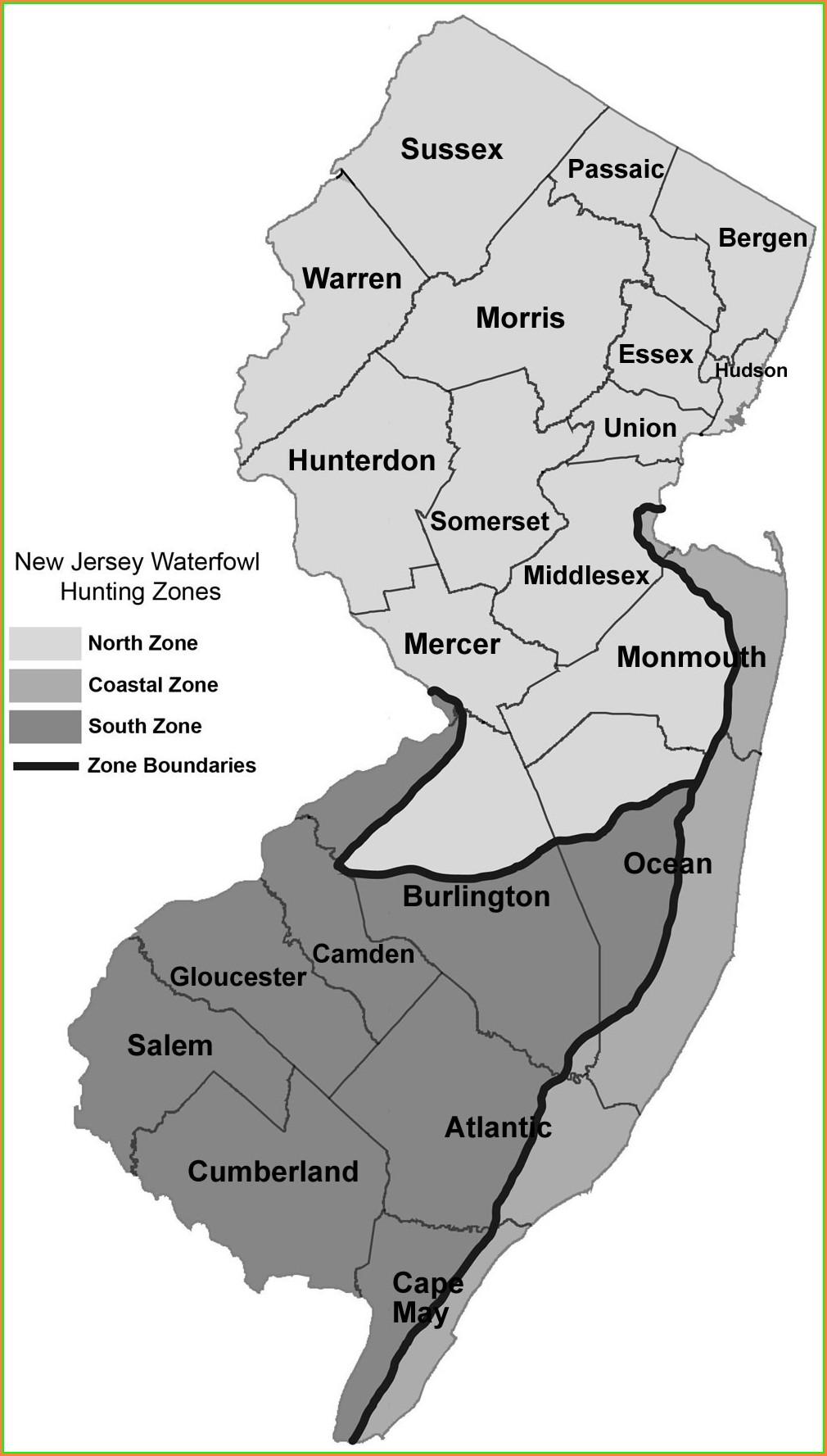 Nj Hunting Zone Map 2019