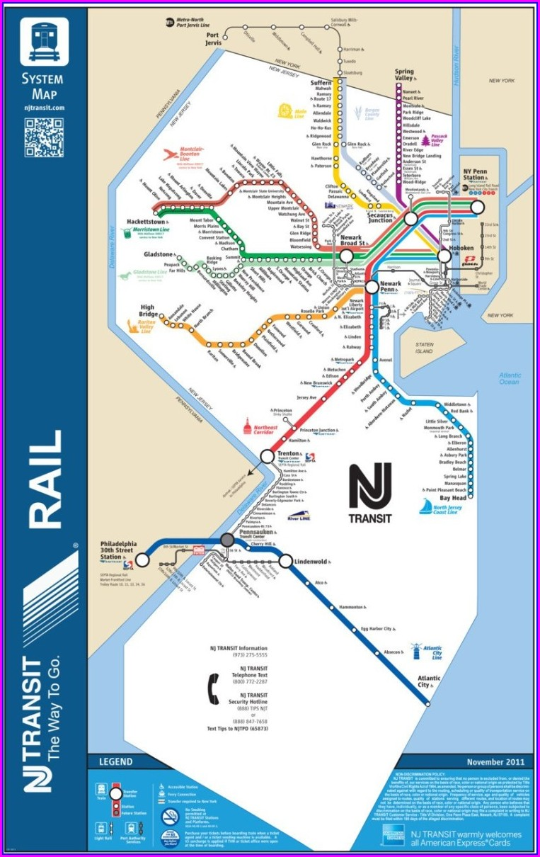 Nj Transit Bus Routes Map