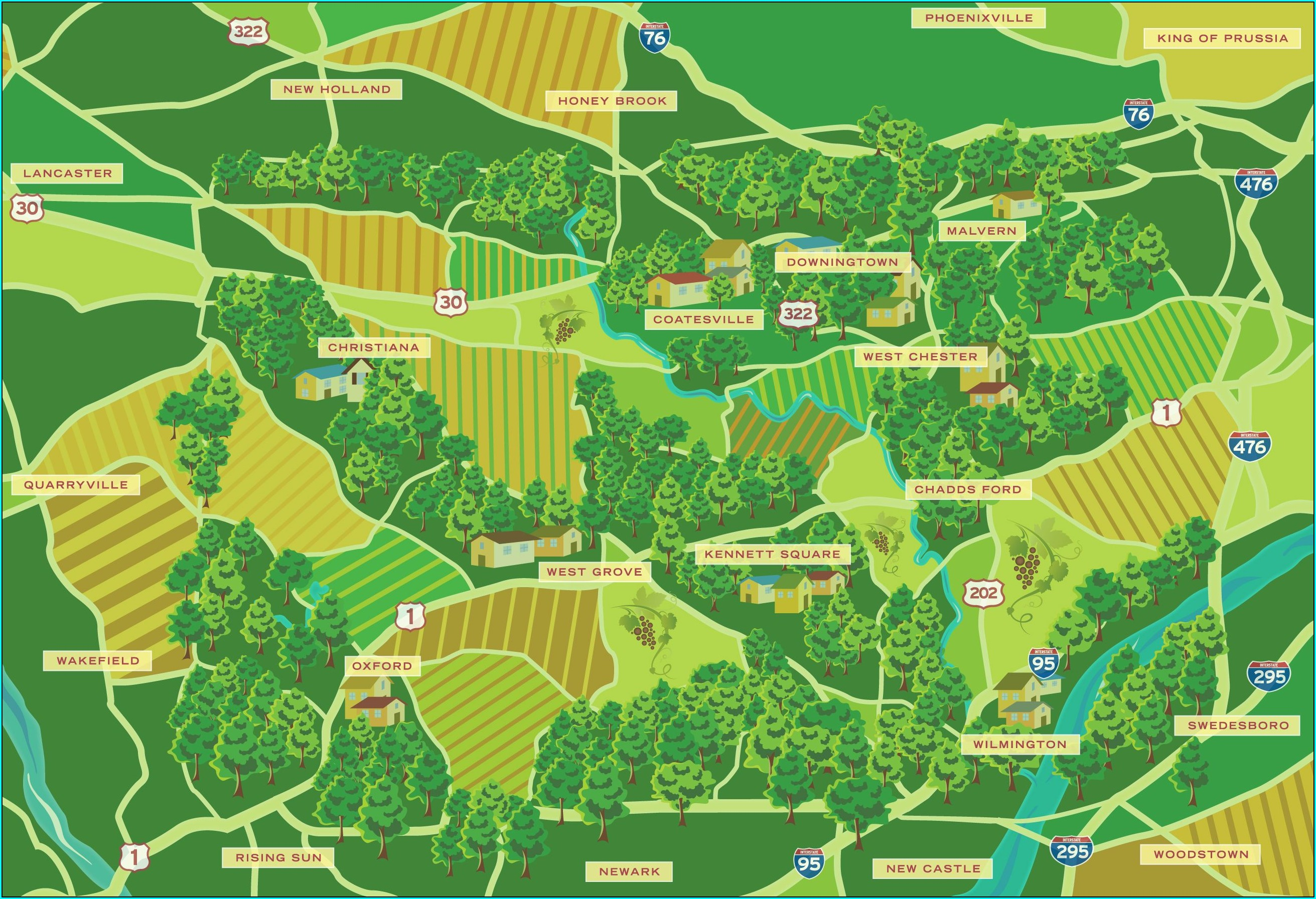 North East Pa Wineries Map