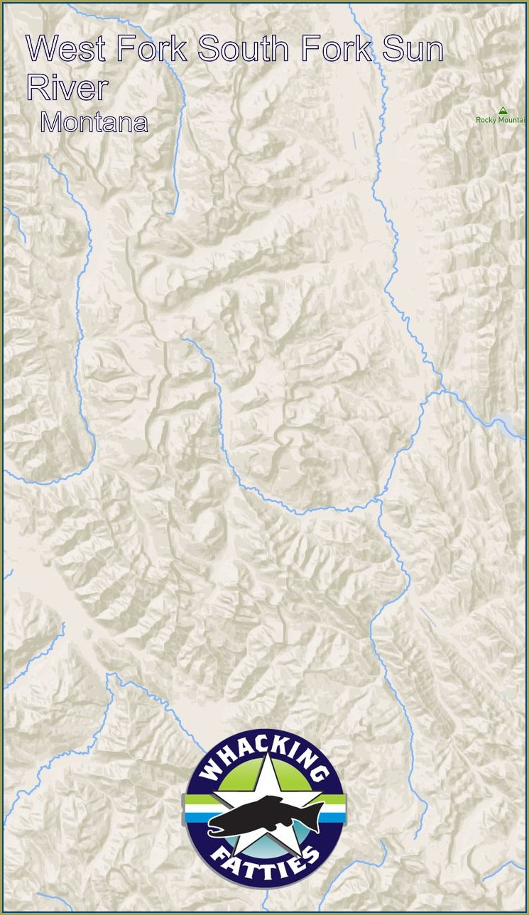 North Fork Blackfoot River Map