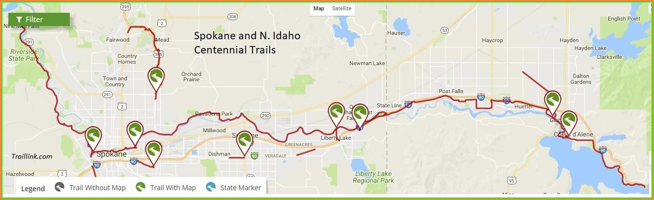 North Idaho Centennial Trail Map