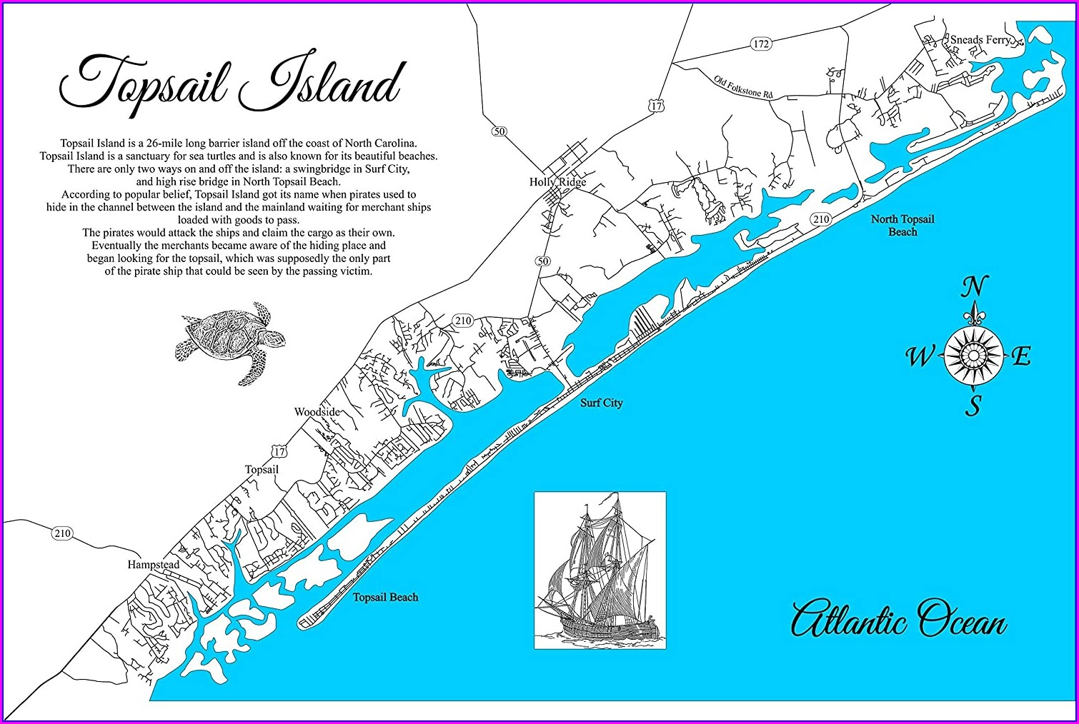 North Topsail Beach Map