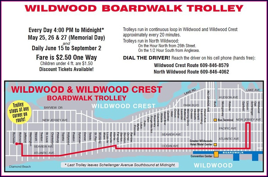 North Wildwood Street Map Of Wildwood Nj