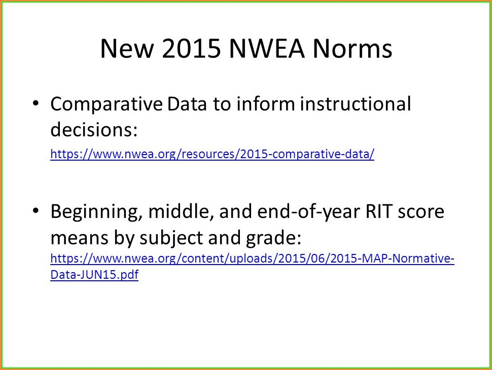 Nwea Map Norms Pdf