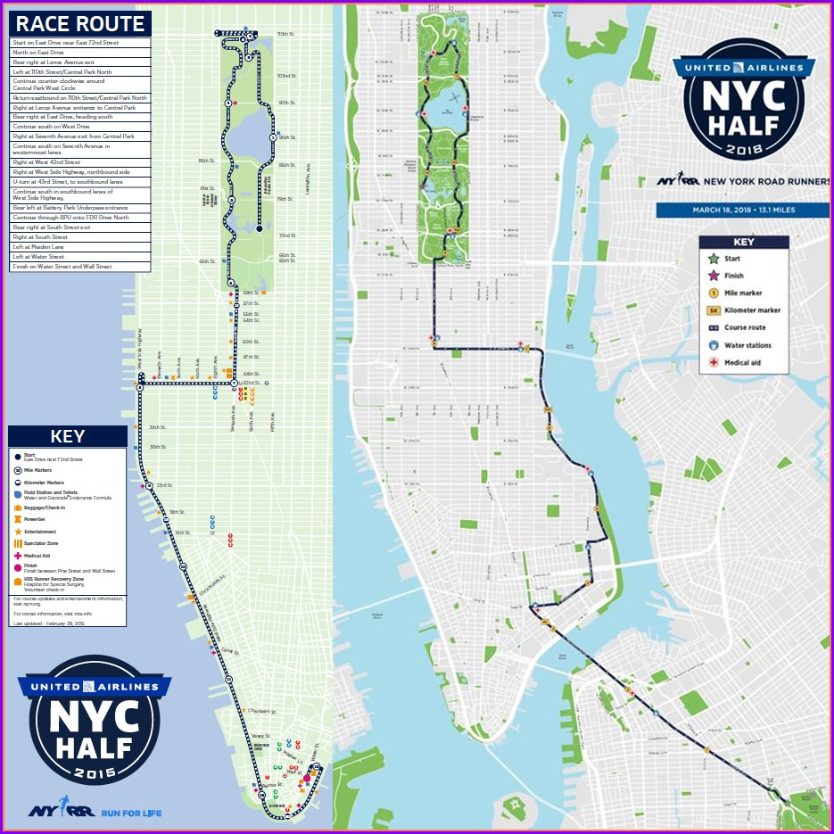 Nyc Half Marathon 2019 Course Map