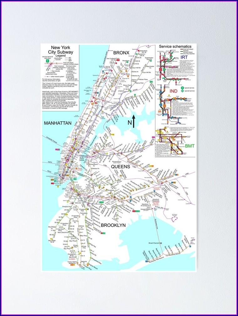 Nyc Subway Map Poster