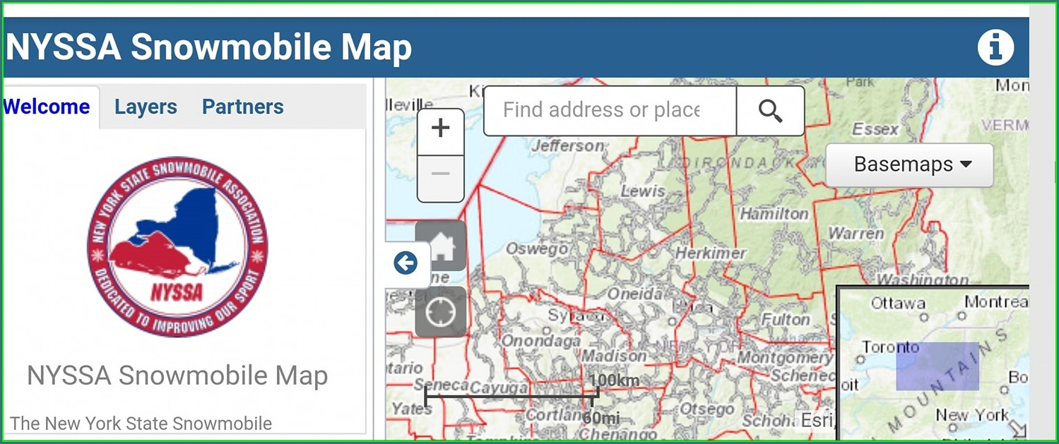 Nys Snowmobile Trail Map App