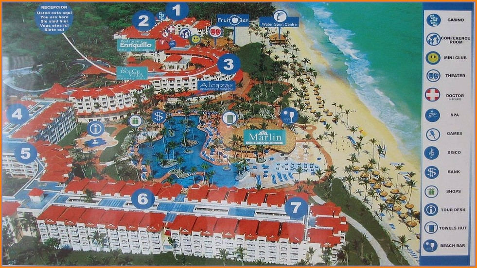 Occidental Caribe Punta Cana Map