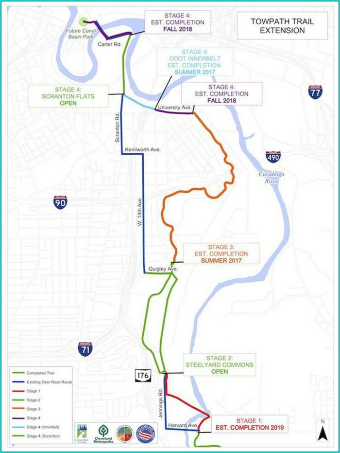 Ohio And Erie Canal Towpath Trail Map