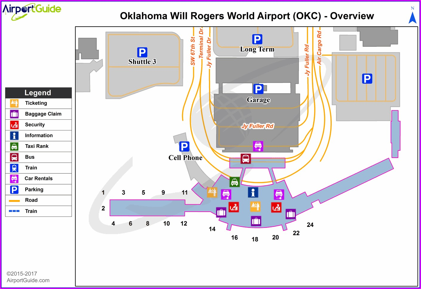 Okc Airport Terminal Map
