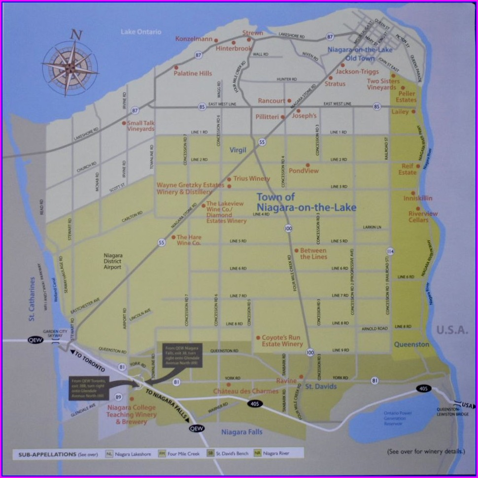 Old Town Niagara On The Lake Map
