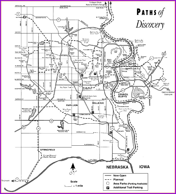 Omaha Bike Trails Map