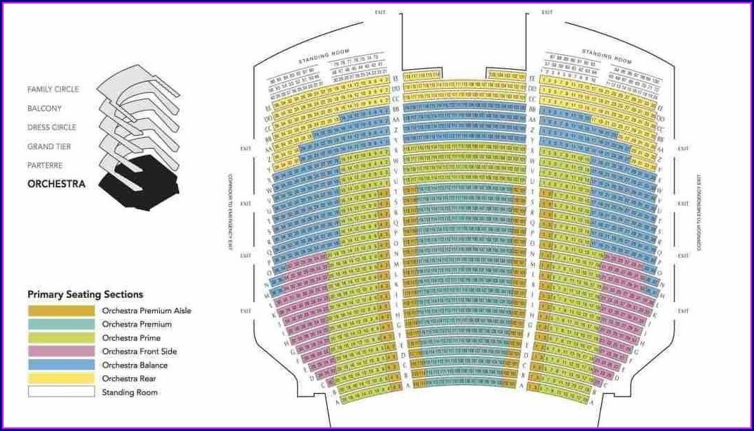 Omaha Orpheum Seat Map