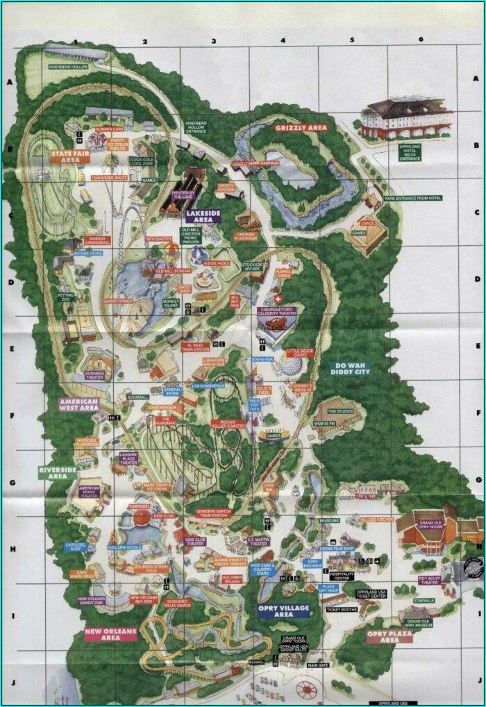 Opryland Usa Theme Park Map