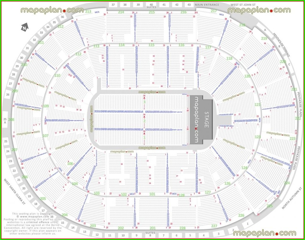 Oracle Arena Entrance Map