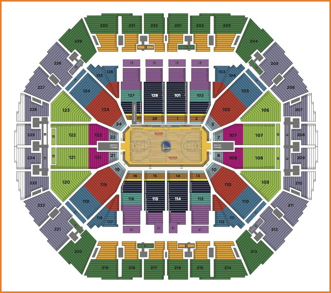 Oracle Arena Warriors Seat Map