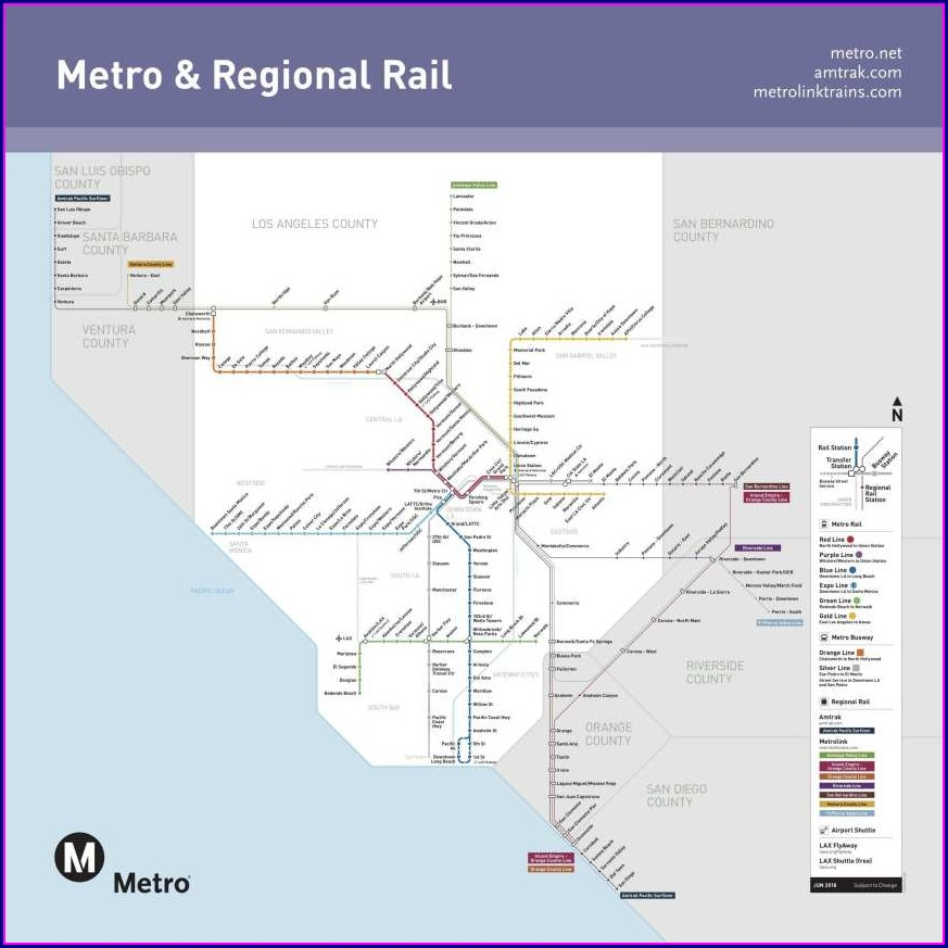 Orange County Metrolink Map