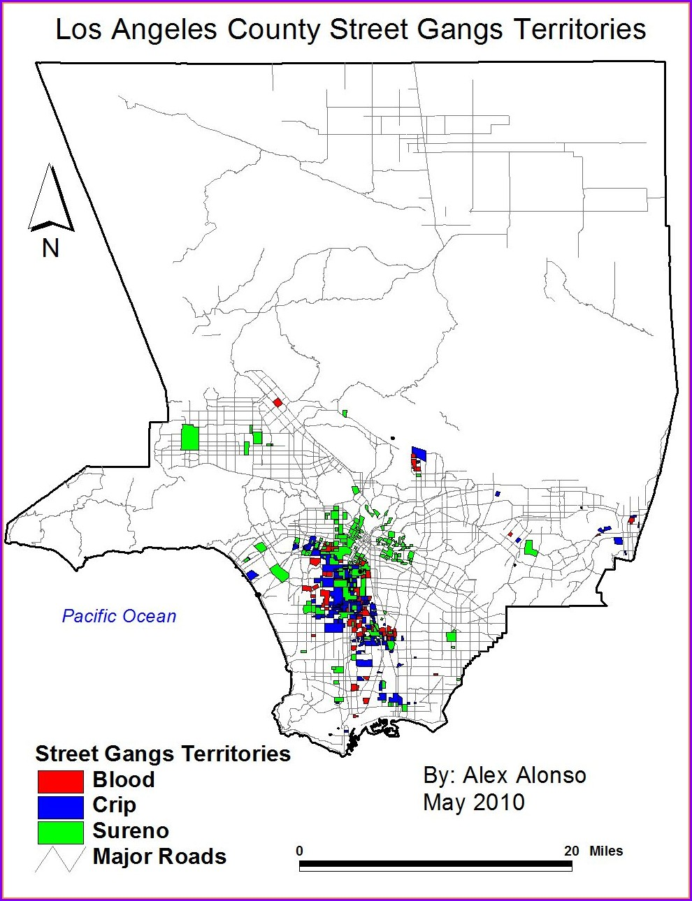 Orange County Santa Ana Gang Map