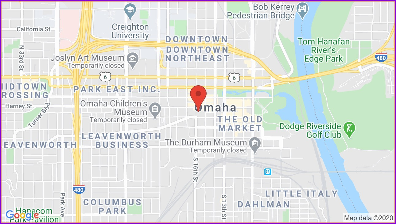Orpheum Theater Map Omaha