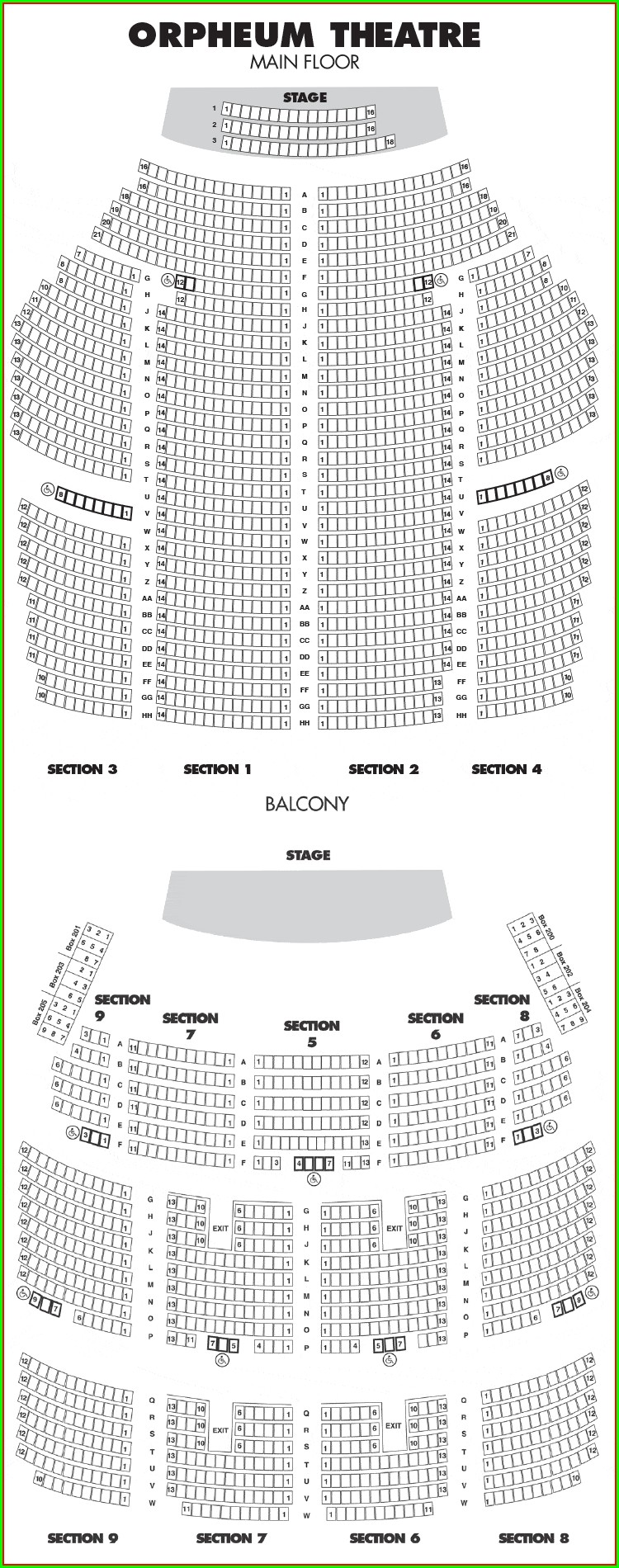 Orpheum Theater Omaha Seat Map