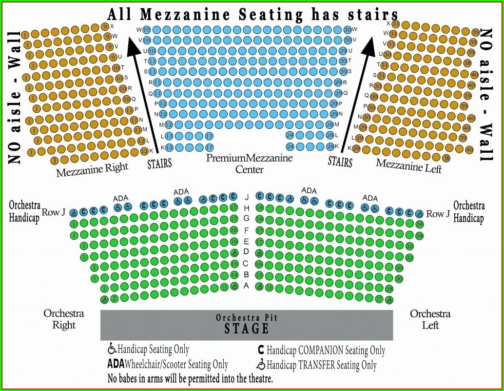 Orpheum Theater San Francisco Seat Map