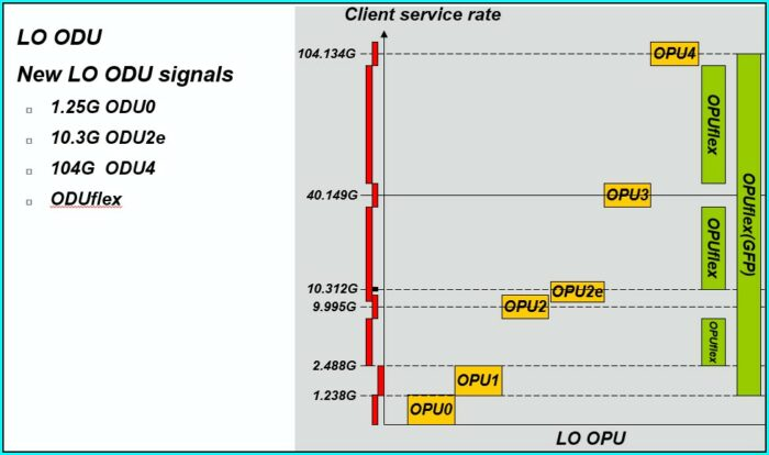 Otn Multiplexing And Mapping Structure