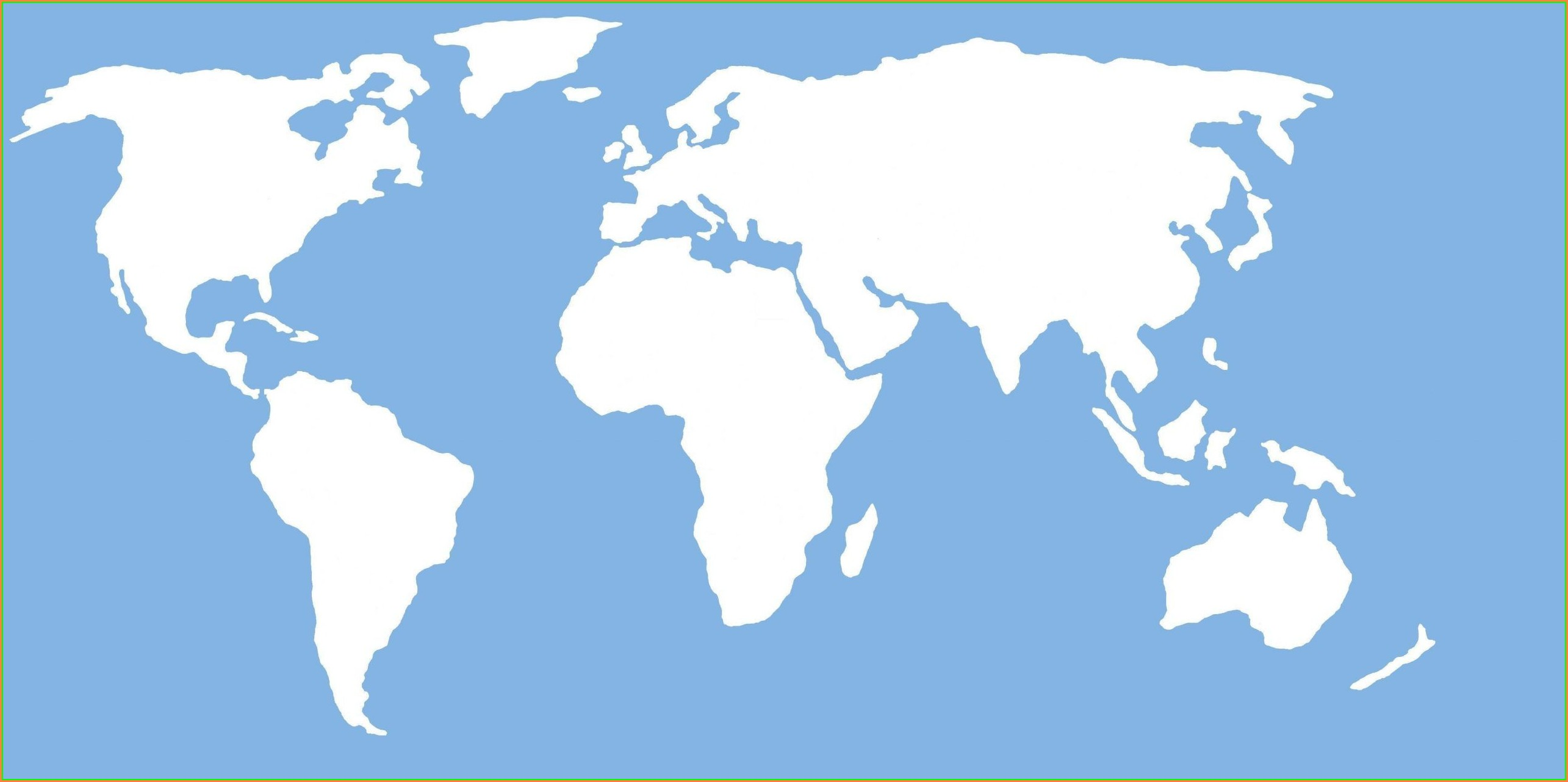 Outline Vector Simple World Map
