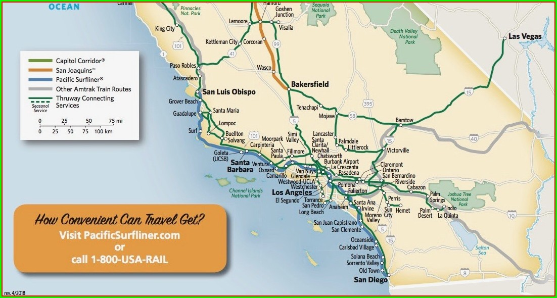 Pacific Surfliner Route Map