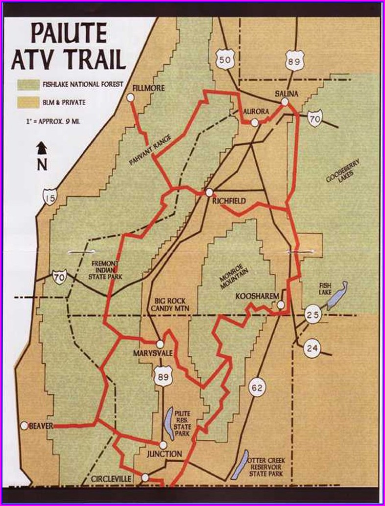 Paiute Trail Map Download