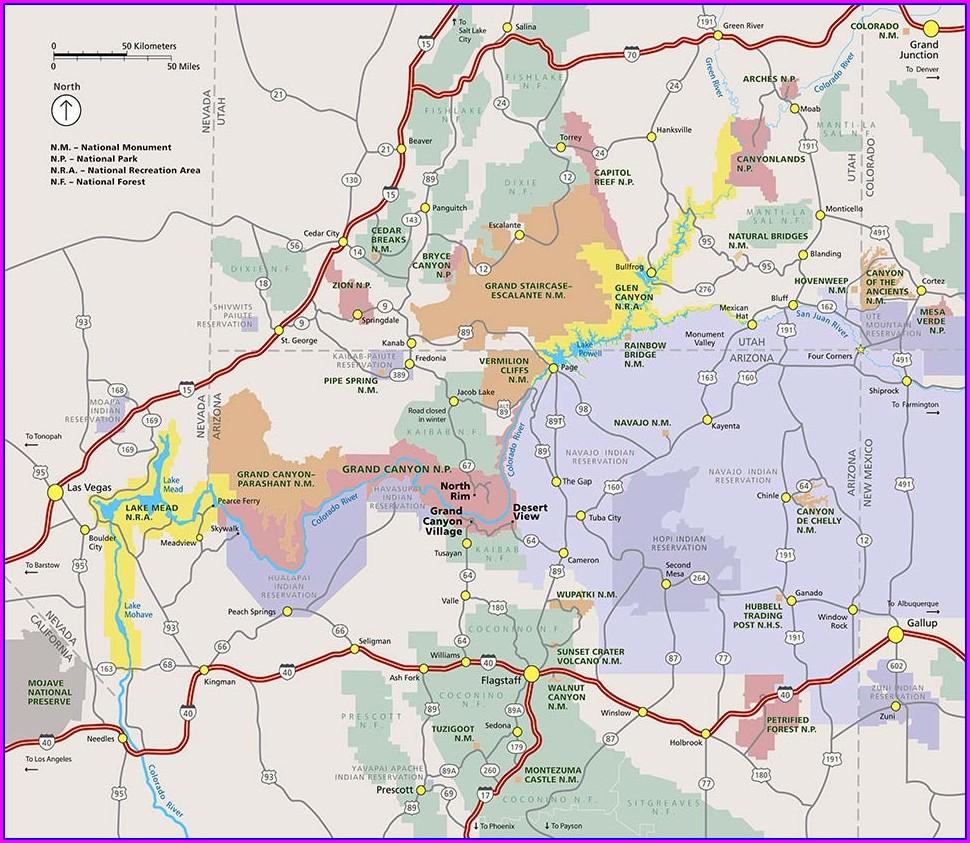 Paiute Trail Map Pdf