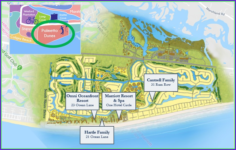 Palmetto Dunes Map Hilton Head