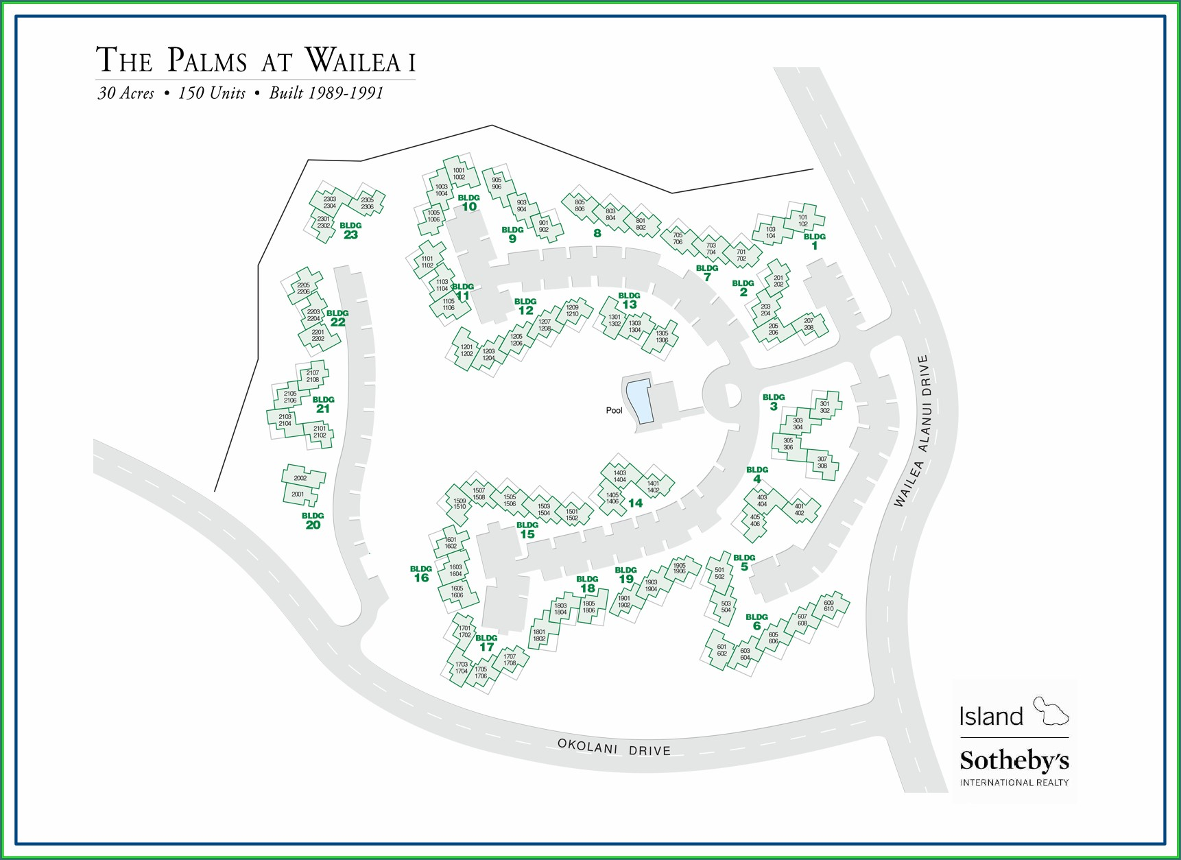 Palms At Wailea Map Of Property