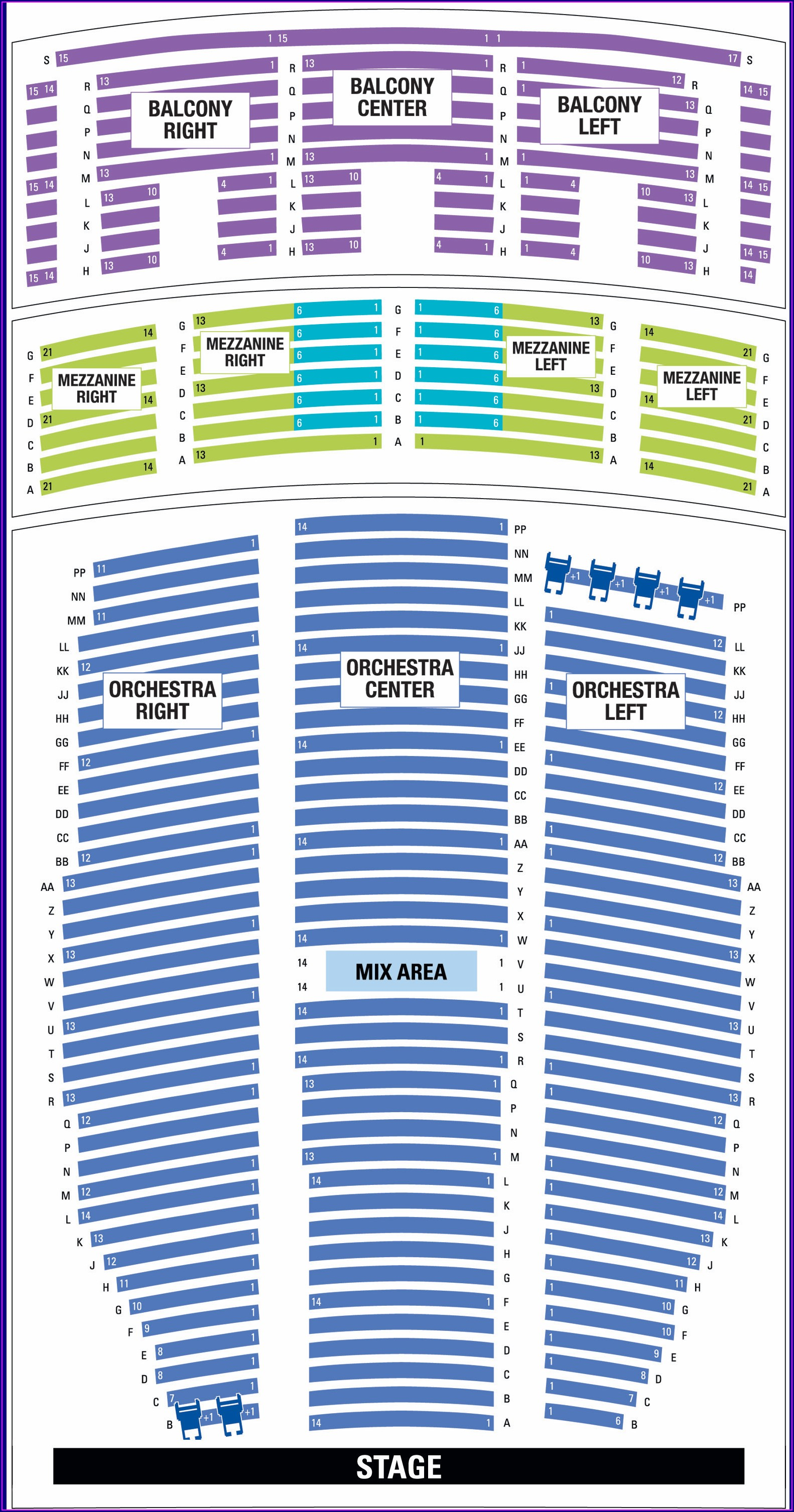 Paramount Theater Denver Seat Map