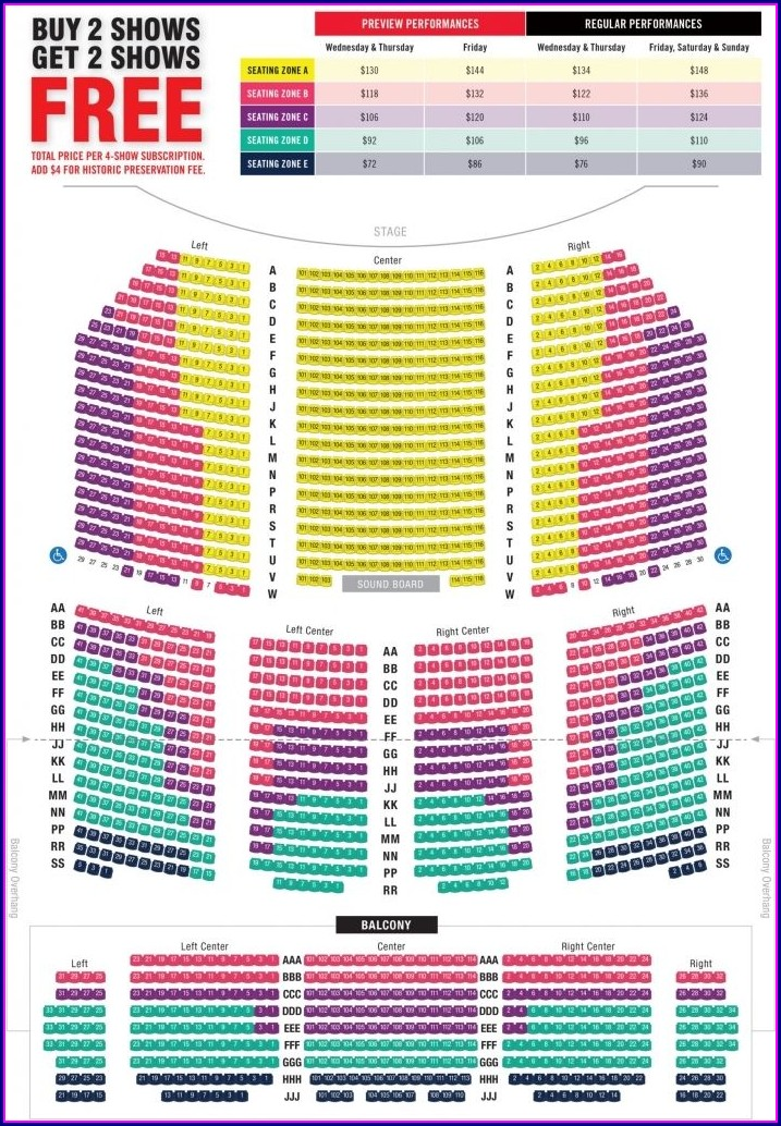 Paramount Theater Seat Map