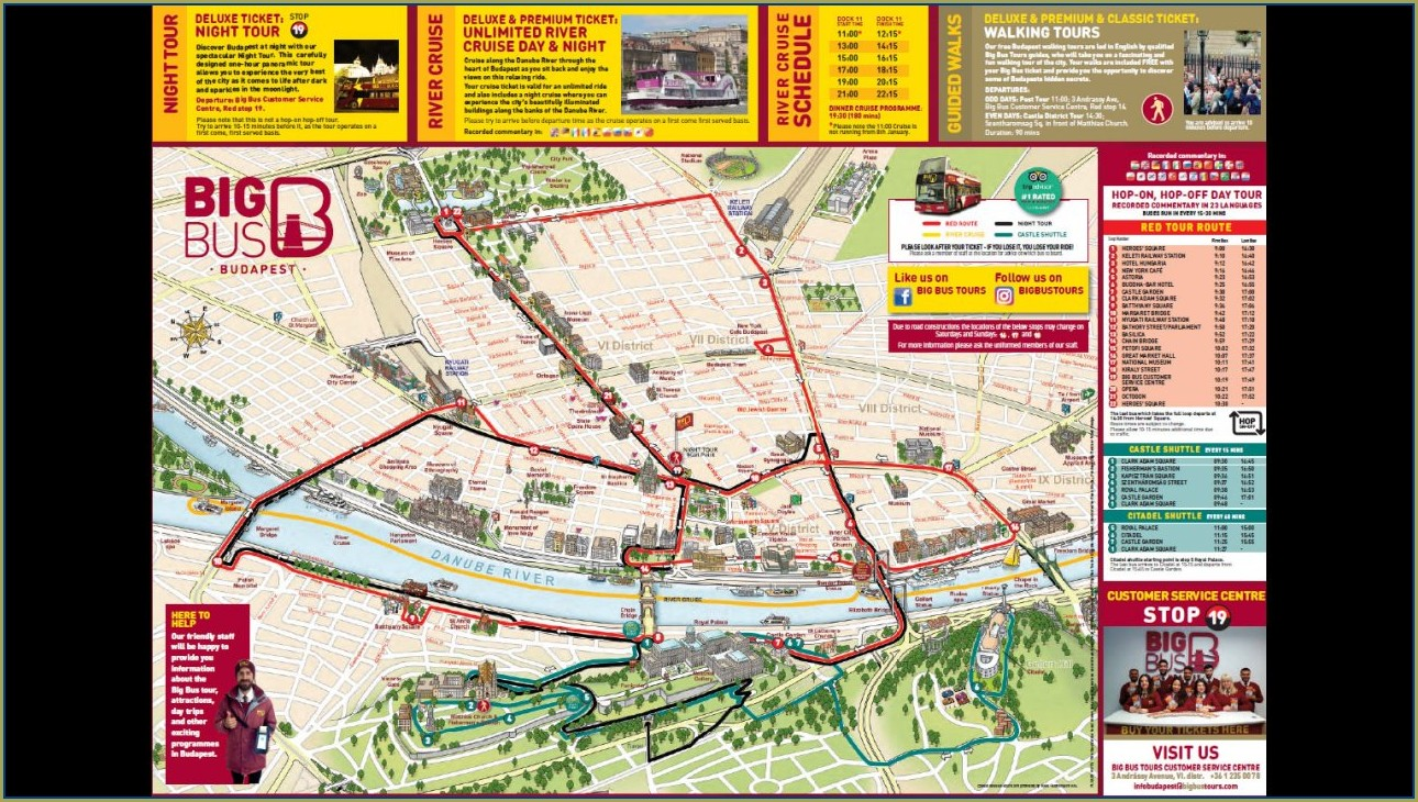 Paris Big Bus Tour Map