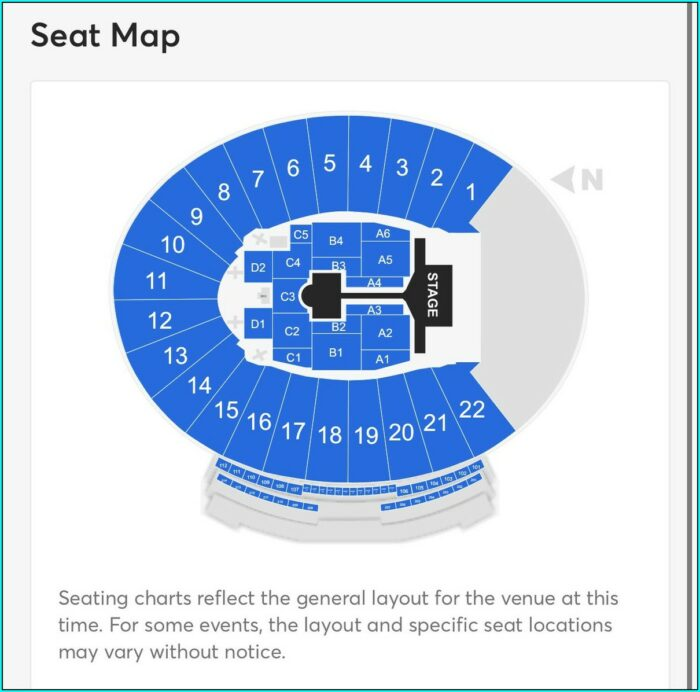 Pasadena Rose Bowl Stadium Map