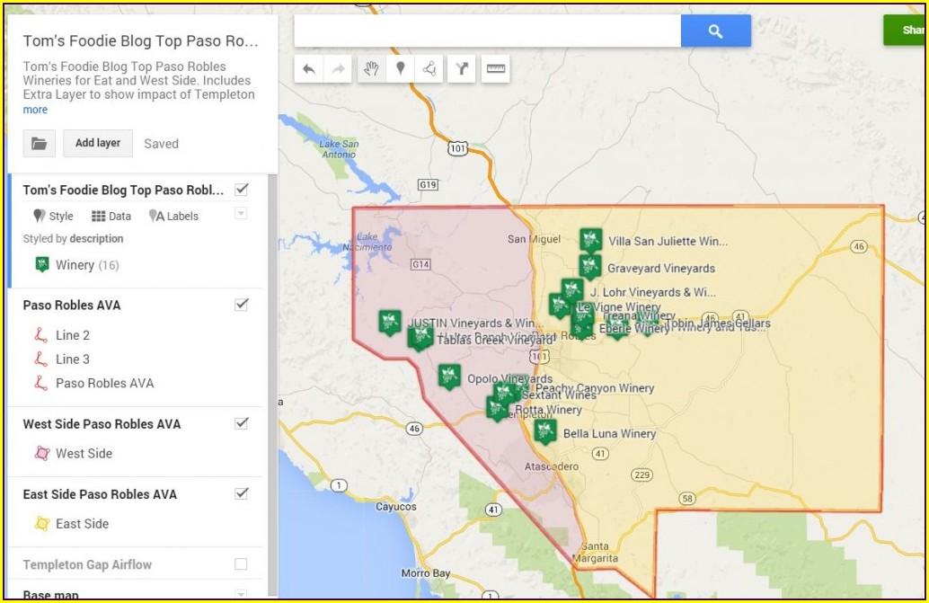 Paso Robles Interactive Wine Map