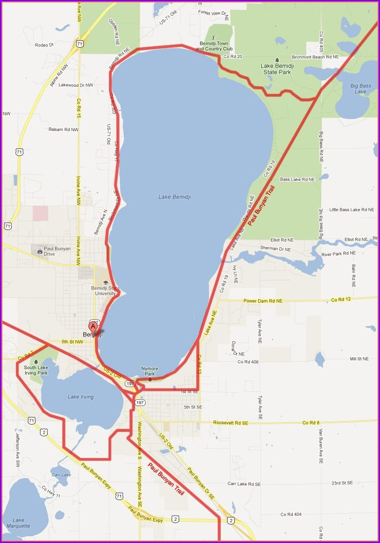 Paul Bunyan Trail Map