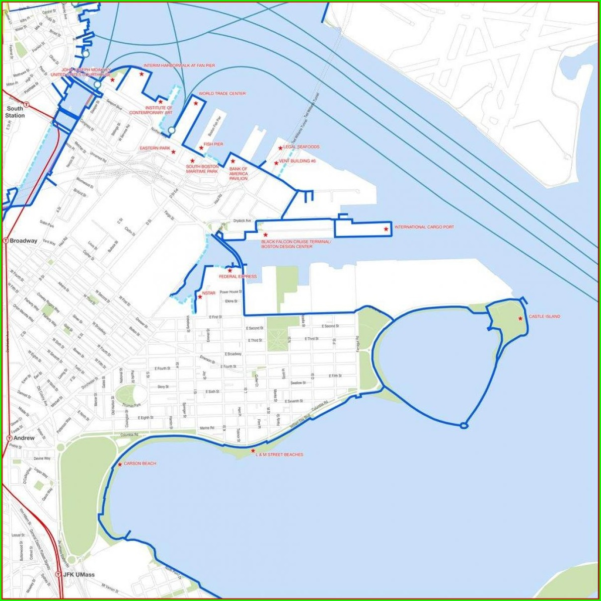 Pdf Boston Harborwalk Map