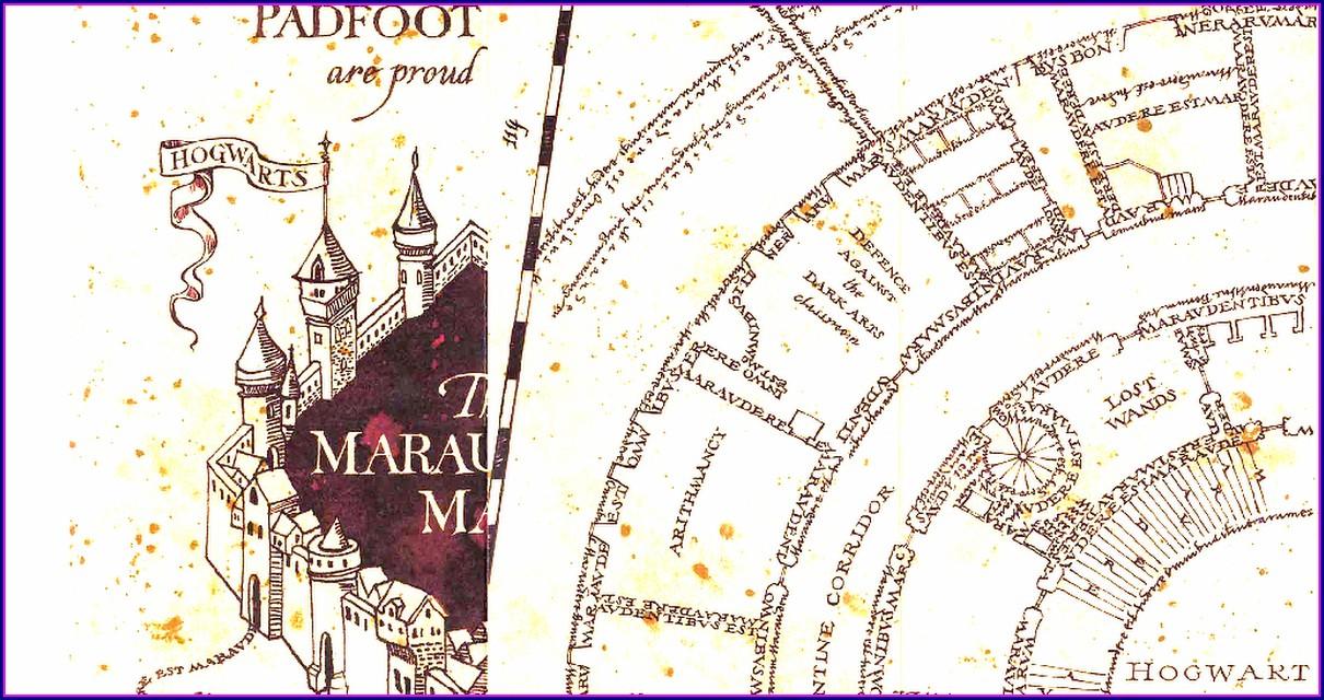 Pdf Harry Potter Marauders Map Printable Template