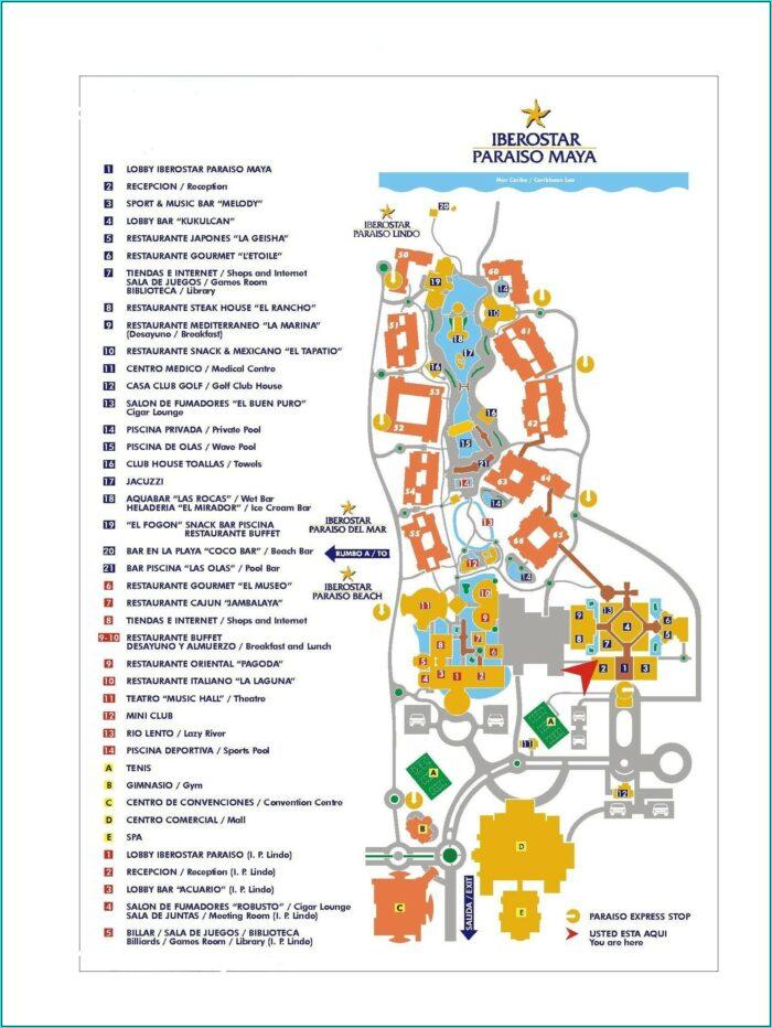 Pdf Iberostar Paraiso Lindo Resort Map