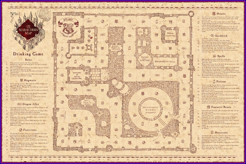 Pdf Marauders Map Free Printable A4