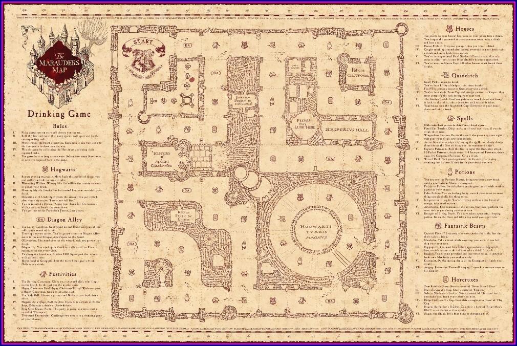 Pdf Marauders Map Free Printable A4