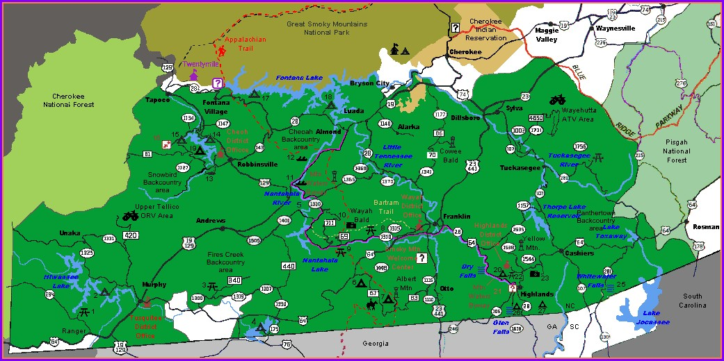 Pdf Nantahala National Forest Map