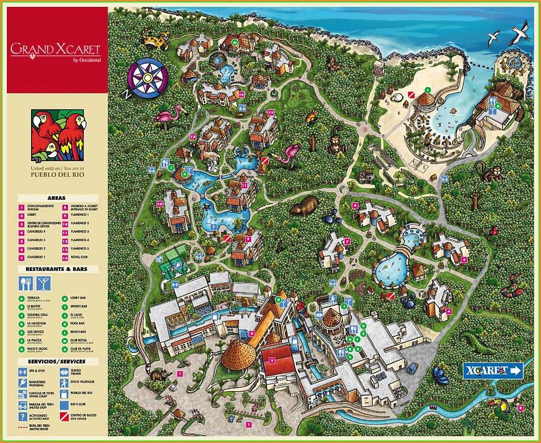 Pdf Sandos Caracol Eco Resort Map