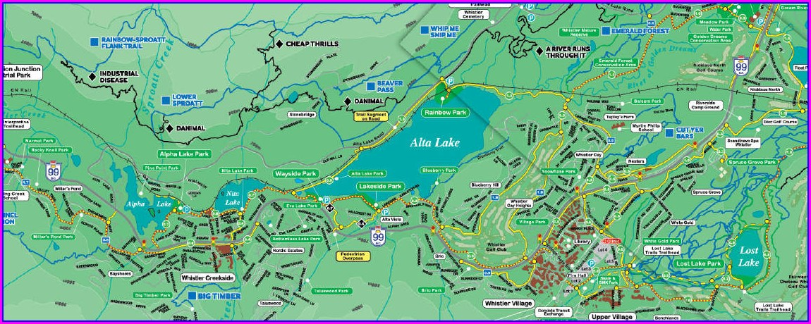 Pdf Whistler Bike Park Map