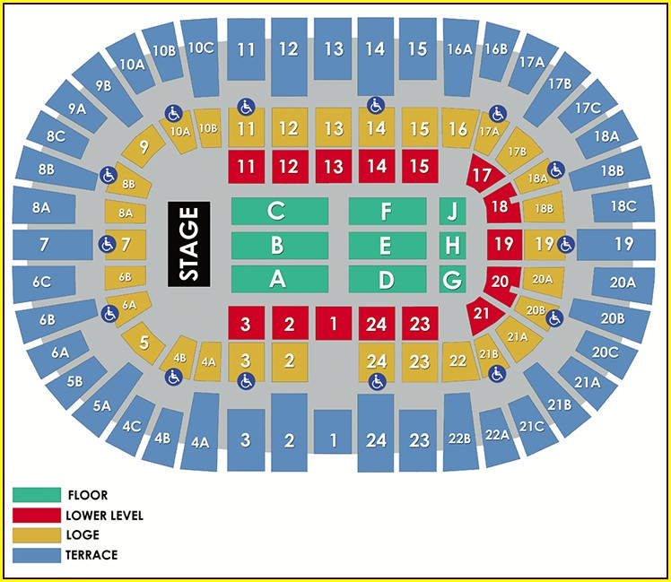 Pechanga Arena Seat Map